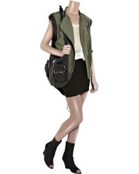 Alexander Wang - Green Shell-back Cotton-canvas Vest - Lyst