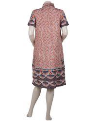 SUNO - Multicolor Printed Shirt Dress - Lyst