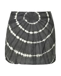 Tory Burch - Gray Florence Tie-dye Leather Skirt - Lyst