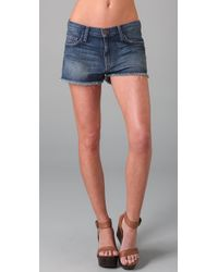 Current/Elliott | Blue The Boyfriend Short | Lyst