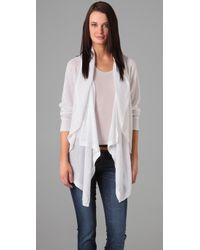 DKNY | White Pure Dkny Long Sleeve Cardigan | Lyst