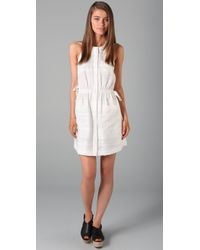 3.1 Phillip Lim | White Gathered Waist Shirtdress | Lyst