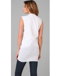 Jarbo - White Pleated Tunic - Lyst