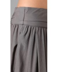 Richard Chai Love | Gray Long Skirt | Lyst