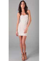 Torn By Ronny Kobo - White Nina Striped Dress - Lyst