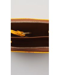 Tory Burch - Yellow Roslyn Zip Coin Case - Lyst