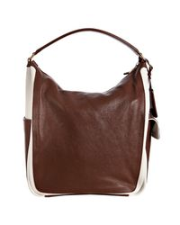 Saint Laurent | Brown Multy Large Leather Hobo Bag | Lyst