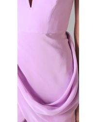 Zimmermann | Purple Draped Dress | Lyst
