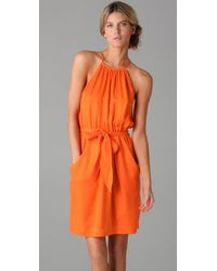 Rebecca Taylor | Orange Snakeskin Cami Dress | Lyst