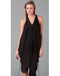 Acne Studios - Black Dance Draped Dress - Lyst