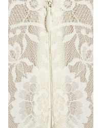 Anna Sui - White Silk-blend Lace and Velvet Gown - Lyst