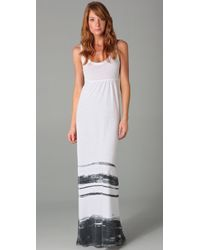 James Perse | White Summer Stripe Long Dress | Lyst