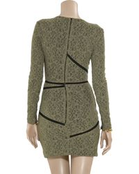 Preen By Thornton Bregazzi | Green Chelsea Stretch-lace Dress | Lyst