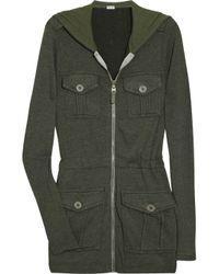 Splendid | Green Vintage Sherpa Jersey Parka Top | Lyst