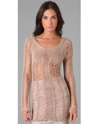 Torn By Ronny Kobo - Natural Mia Holes Sweater - Lyst