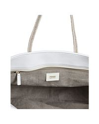 Fendi | Natural Linen Roll Tote | Lyst