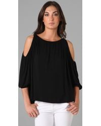 Rachel Pally - Black Cleo Cold Shoulder Top - Lyst