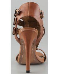 Sam Edelman   Multicolor Lucia T Strap High Heel Sandals   Lyst
