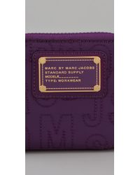 Marc By Marc Jacobs - Purple Pretty Nylon Small Zip Around Wallet - Lyst