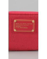Marc By Marc Jacobs - Red Pretty Nylon Small Zip Around Wallet - Lyst