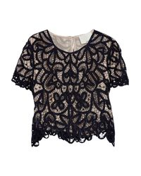 3.1 Phillip Lim | Blue Hairpinlace Cropped Top | Lyst