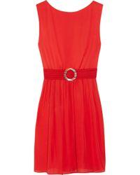Alice + Olivia   Red Grace Blouson Dress   Lyst