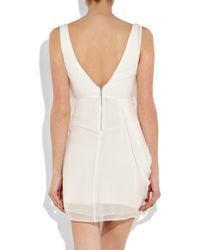 Alice + Olivia | White Silk Wrap-effect Dress | Lyst