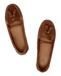 A.P.C. - Brown Suede Moccasins - Lyst