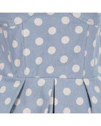 Aryn K. | Aryn K Womens Polka Dot Strapless Dress - Blue Multi | Lyst