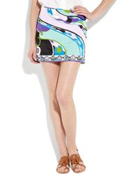 Emilio Pucci | Multicolor Printed Jersey Mini Skirt | Lyst