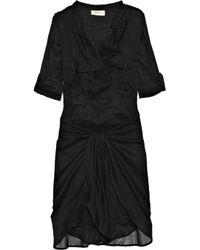 Étoile Isabel Marant | Black Susan Tie-front Silk-voile Dress | Lyst