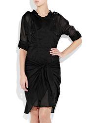 Étoile Isabel Marant - Black Susan Tie-front Silk-voile Dress - Lyst