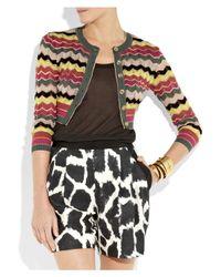 M Missoni | Red Crochet-knit Cardigan | Lyst