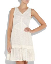 Marc By Marc Jacobs - Natural Effie Cotton Broderie Anglaise Dress - Lyst
