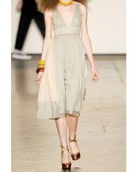 Marc By Marc Jacobs - Natural Silk V-neck Dot Dress - Lyst