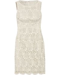 Michael Kors - Multicolor Cotton-lace Shift Dress - Lyst
