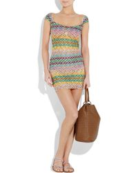Missoni | Yellow Baden Crochet-knit Mini Dress | Lyst