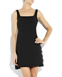 Boutique Moschino | Black Ruffle-back Crepe Dress | Lyst