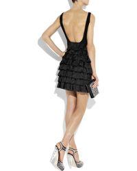 Boutique Moschino - Black Ruffle-back Crepe Dress - Lyst