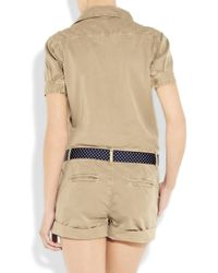 Paul & Joe   Natural Belted Cotton-twill Playsuit   Lyst