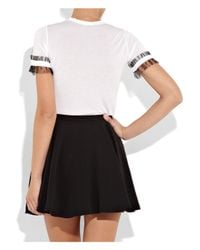 RED Valentino - White Couture Bow-embellished Modal T-shirt - Lyst
