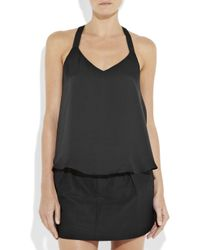 Theyskens' Theory - Black Buci Open-back Silk-satin Top - Lyst