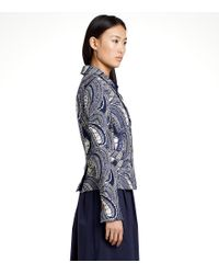 Tory Burch - Blue 'erica' Jacket - Lyst