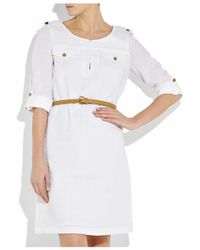 Tory Burch   White Verbena Linen Dress   Lyst