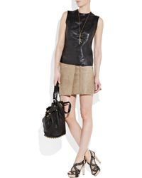 Vince - Black Leather Tank - Lyst