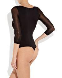 Wolford - Black Rebecca Swarovski Crystal-embellished Bodysuit - Lyst