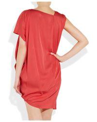 Zero + Maria Cornejo - Pink Cade Asymmetric Satin-crepe Dress - Lyst