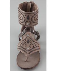 Ash | Brown Mumbai Cuffed Flat Sandals | Lyst
