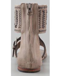 Ash - Brown Mumbai Cuffed Flat Sandals - Lyst