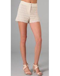 Club Monaco | Natural Diaz Lace Shorts | Lyst
